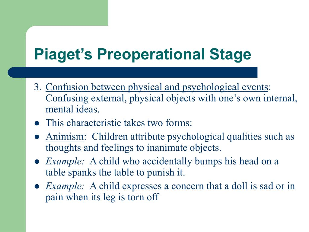 Piaget's Preoperational Stage