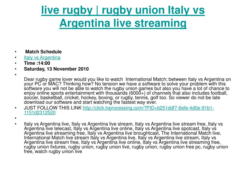 live rugby rugby union italy vs argentina live streaming l.