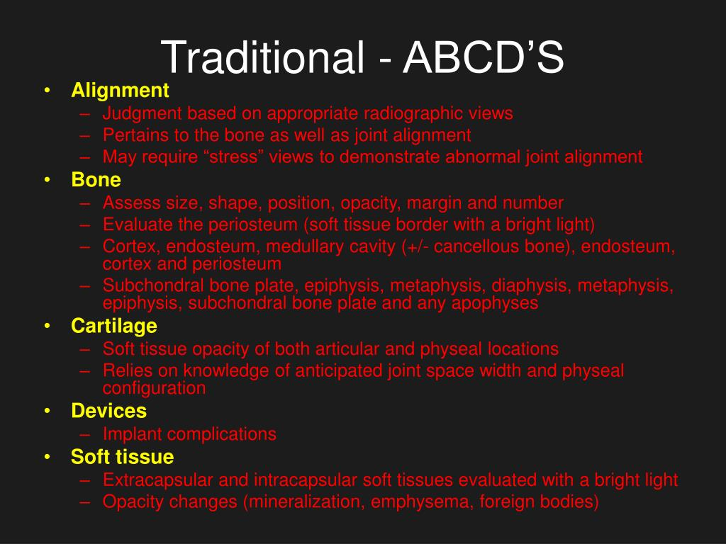 Traditional - ABCD'S