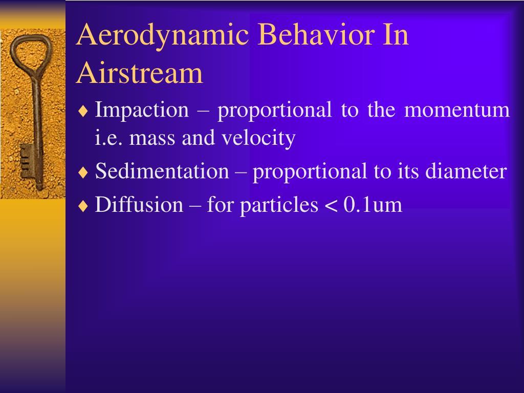 Aerodynamic Behavior In Airstream