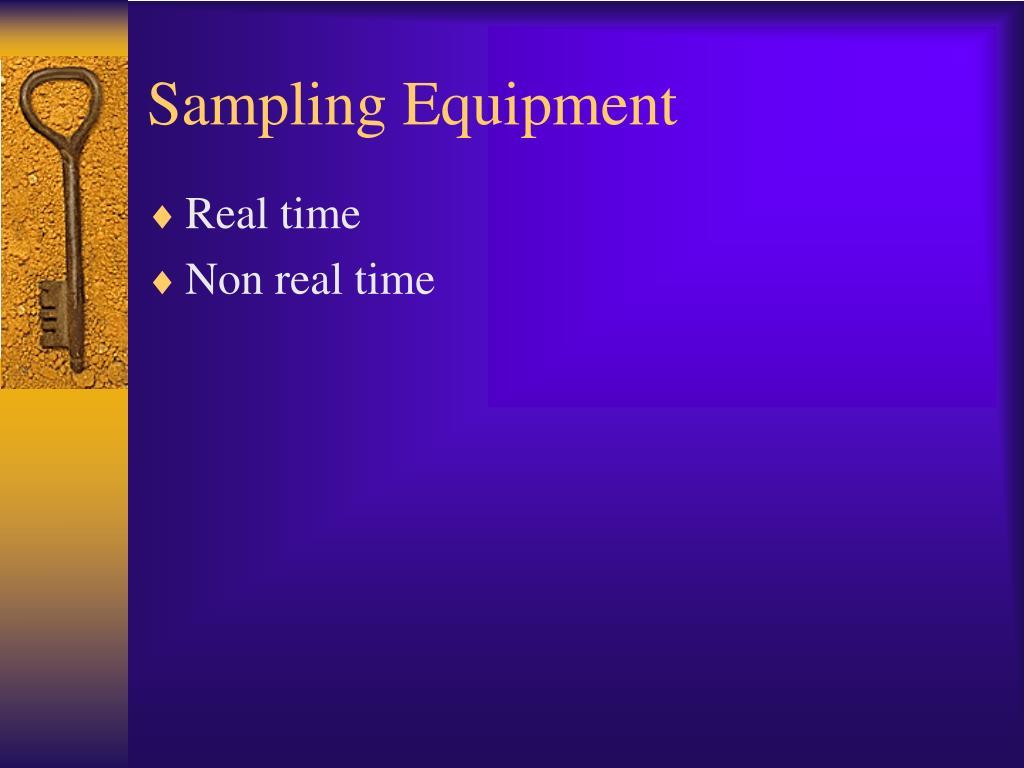 Sampling Equipment