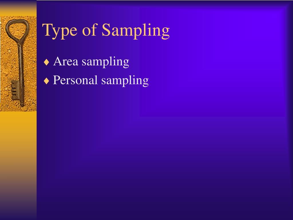 Type of Sampling