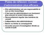 pistes de r flexion conseil d administration plus efficace