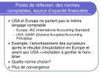pistes de r flexion des normes comptables source d opacit financi re
