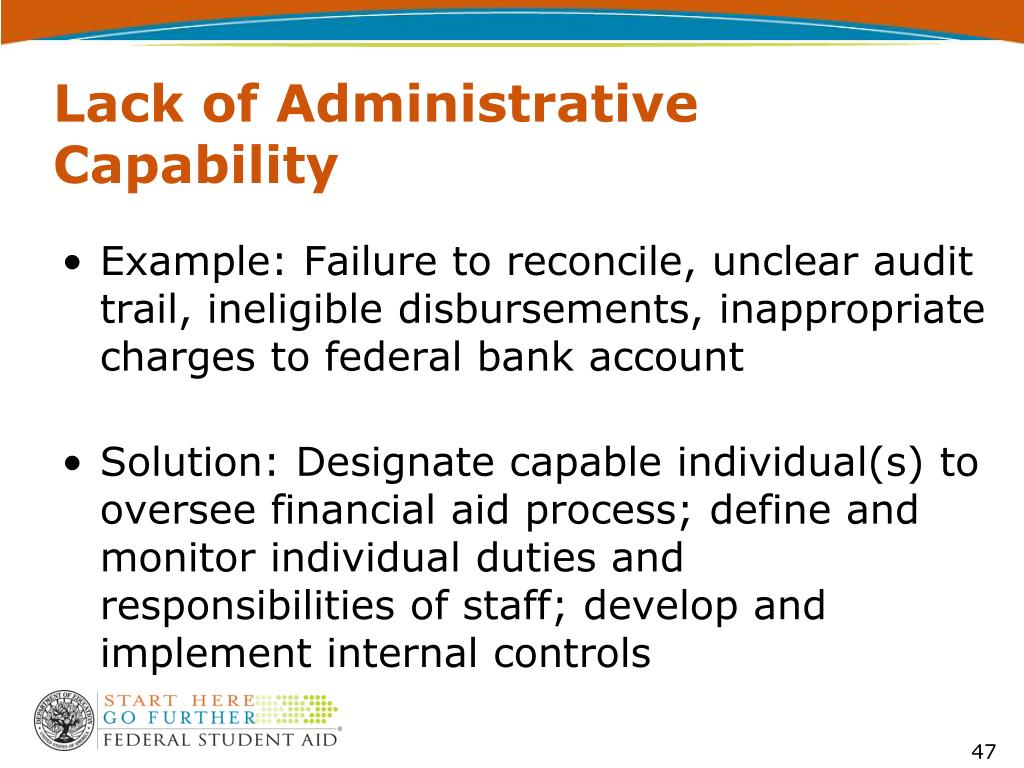 Lack of Administrative Capability