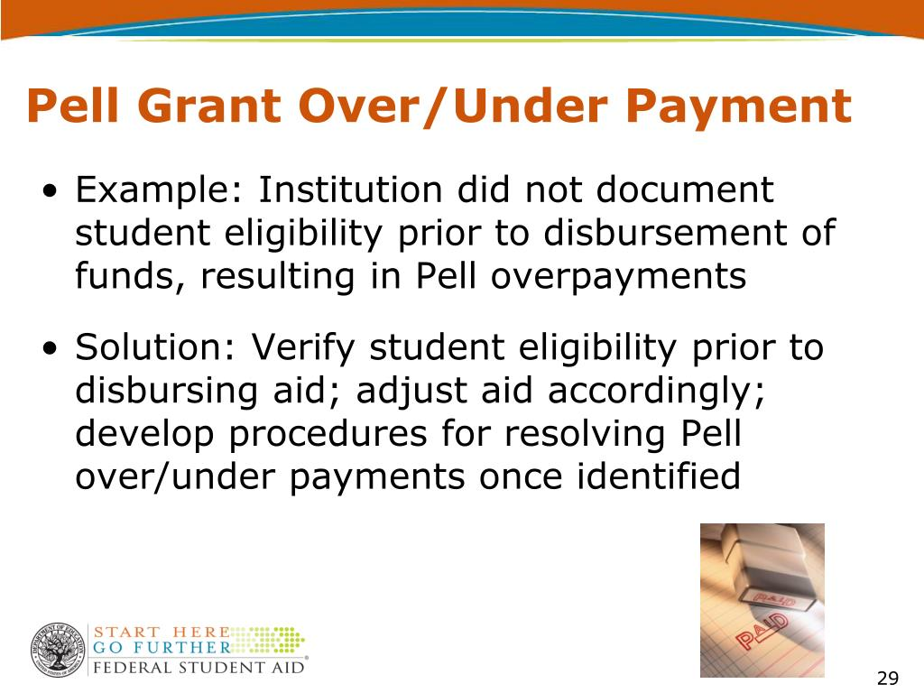 Pell Grant Over/Under Payment