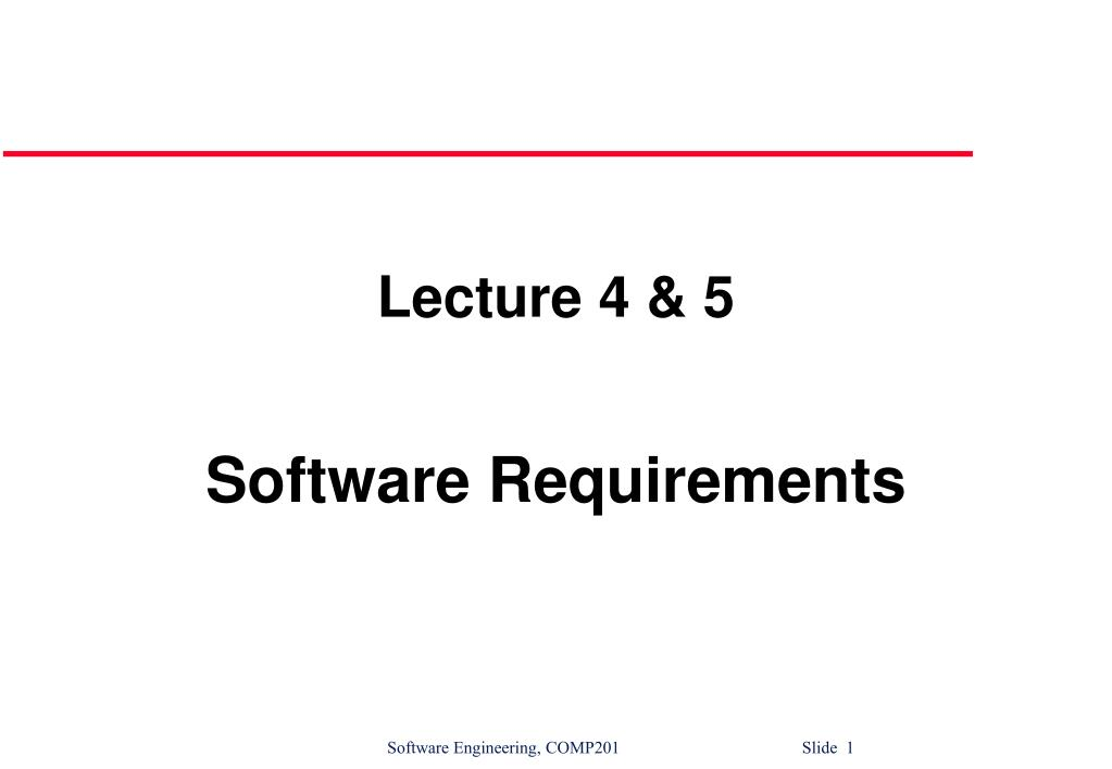 Lecture 4 & 5