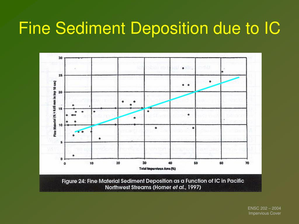 Fine Sediment Deposition due to IC