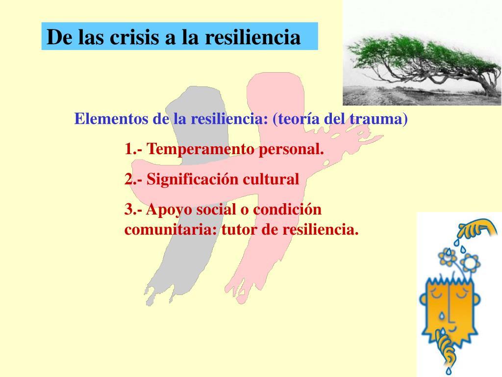 De las crisis a la resiliencia