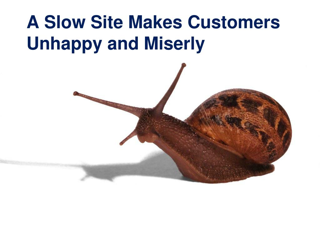 A Slow Site Makes Customers Unhappy and Miserly