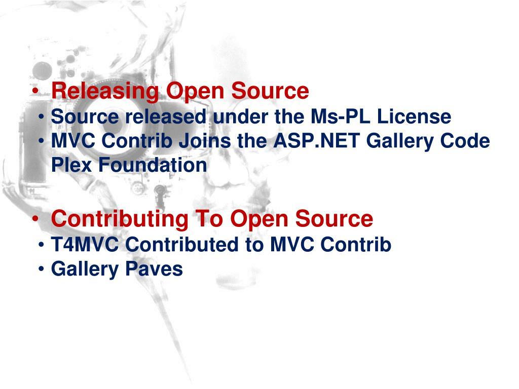 Releasing Open Source