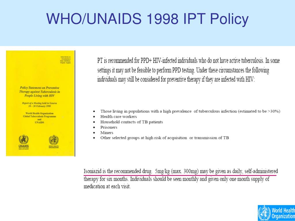 WHO/UNAIDS 1998 IPT Policy
