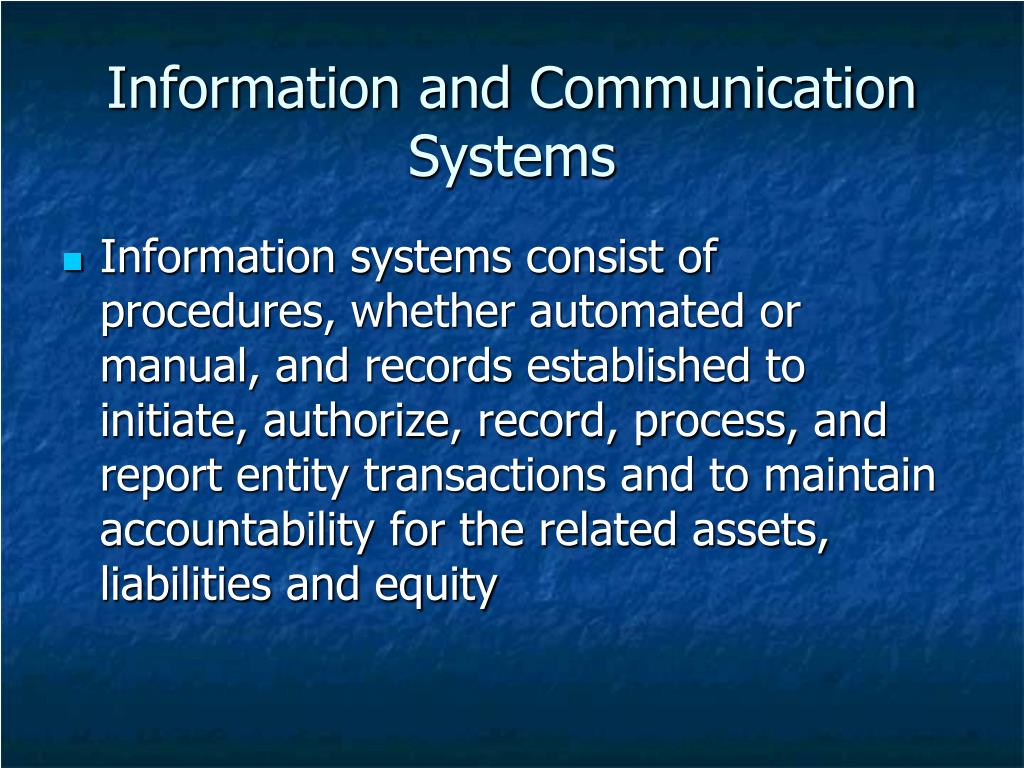Information and Communication Systems