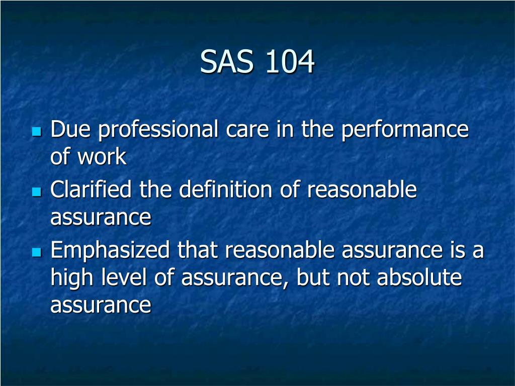 SAS 104