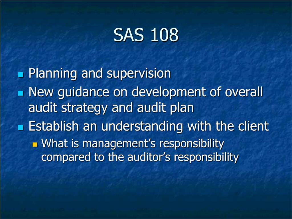 SAS 108