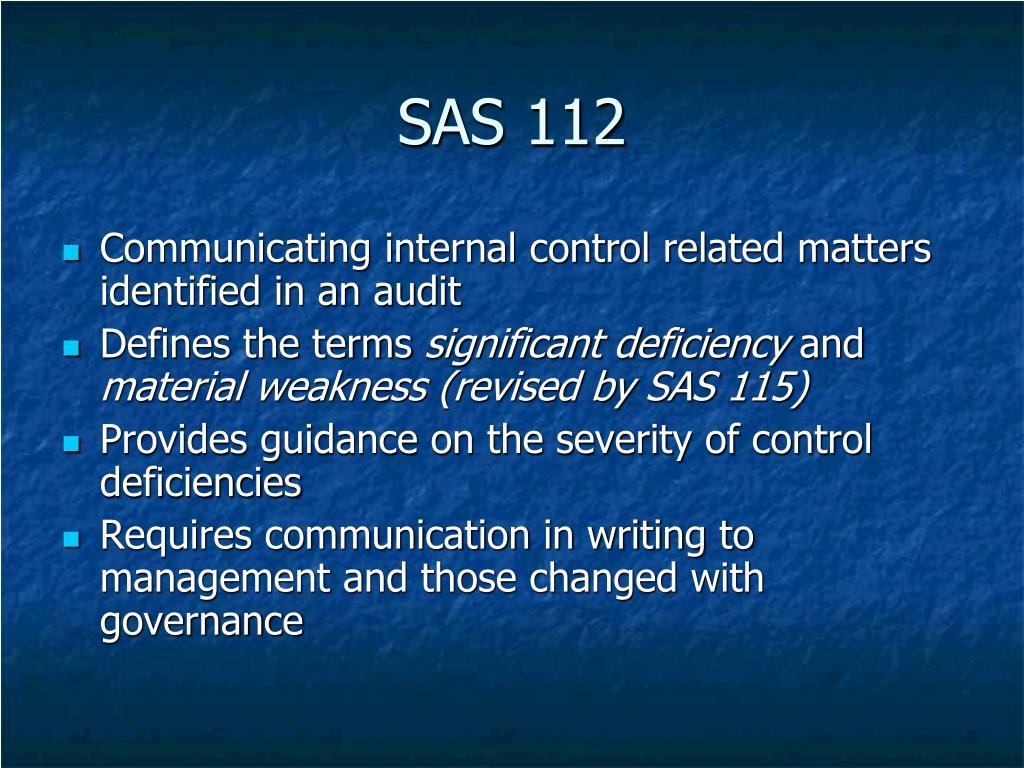 SAS 112