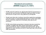 standard precautions mmwr august 21 1987