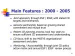 main features 2000 2005