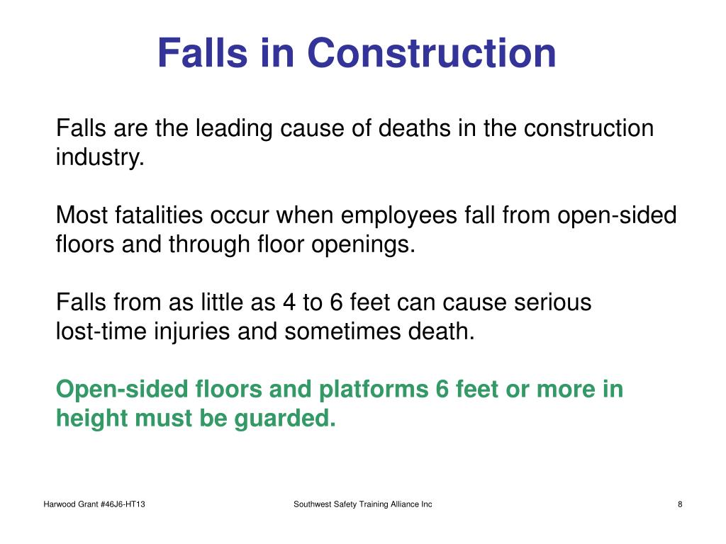 Falls in Construction