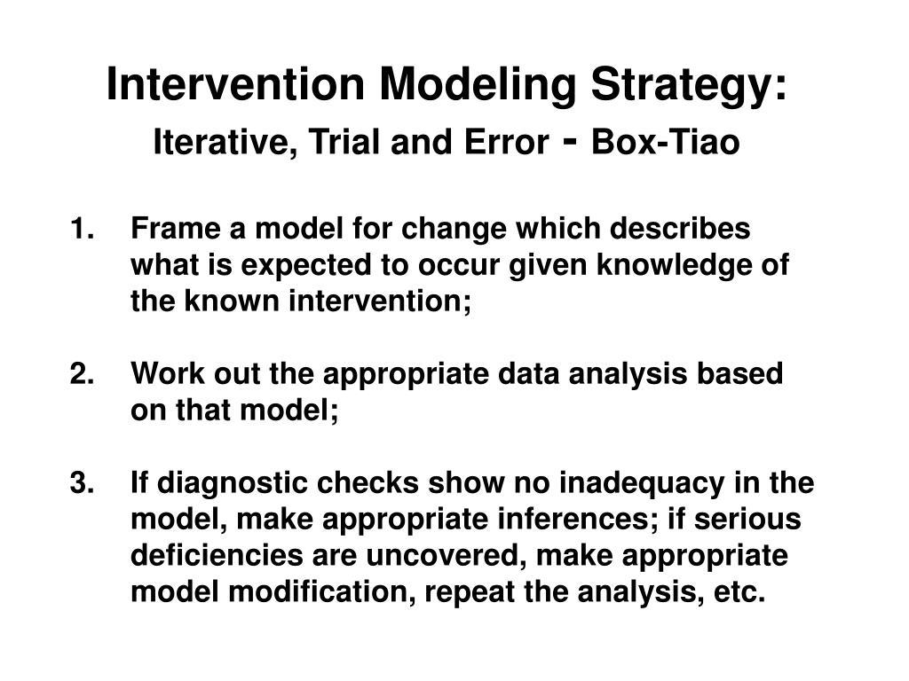 Intervention Modeling Strategy: