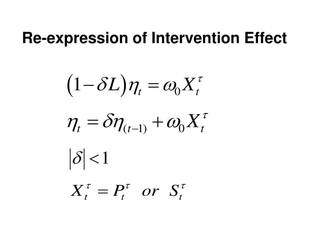 Re-expression of Intervention Effect