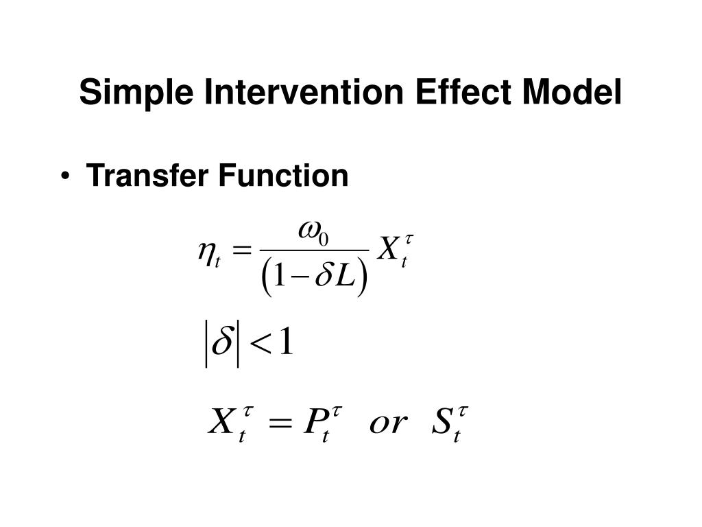 Simple Intervention Effect Model