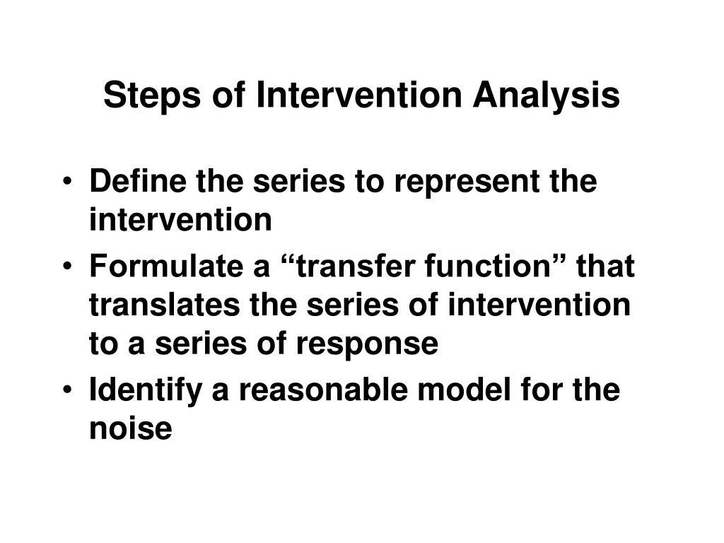 Steps of Intervention Analysis