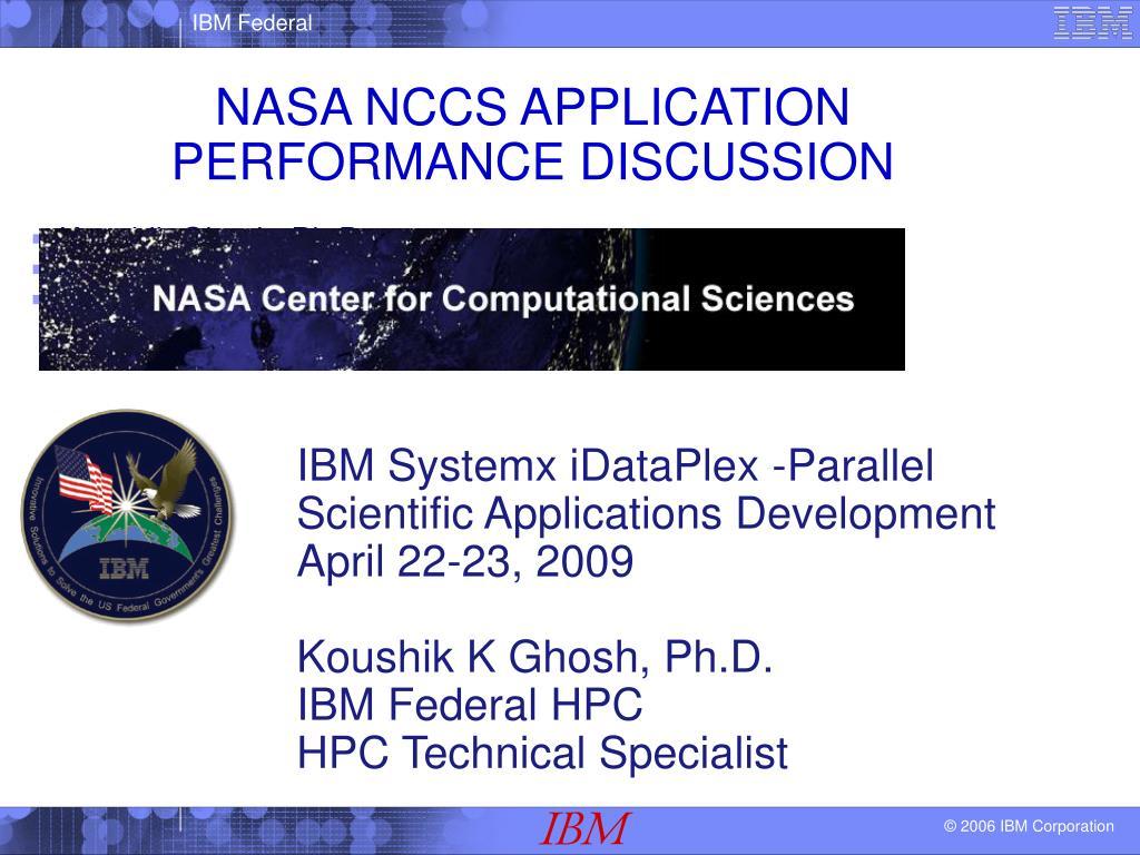 nasa nccs application performance discussion