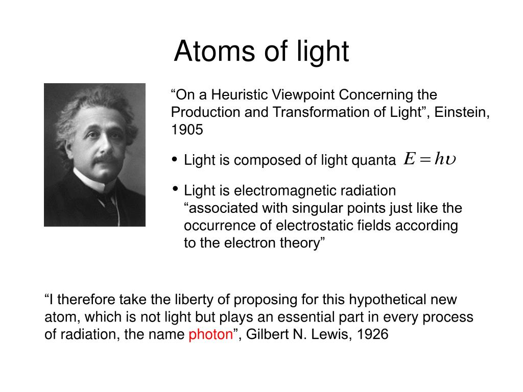 Light is composed of light quanta