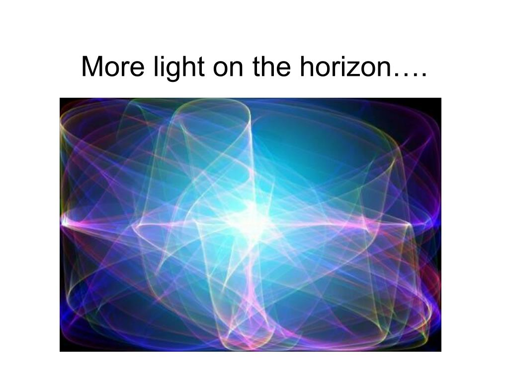More light on the horizon….