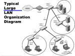 typical large lan organization diagram