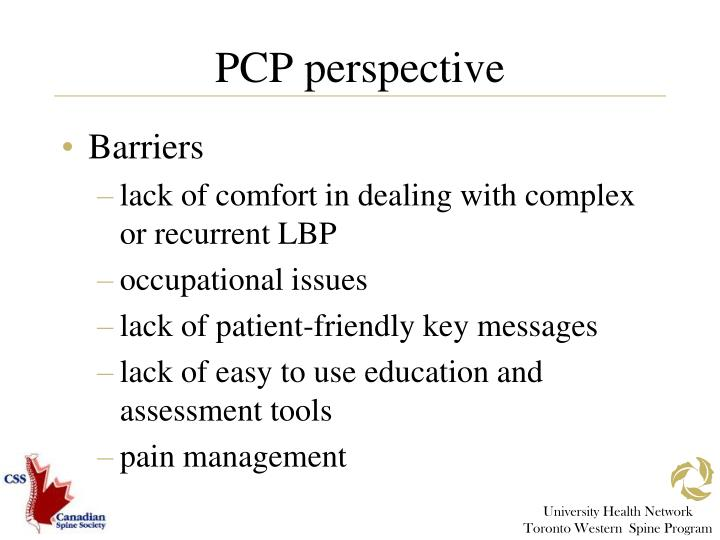 PCP perspective