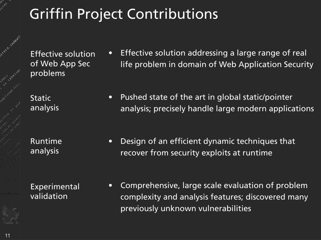 Griffin Project Contributions