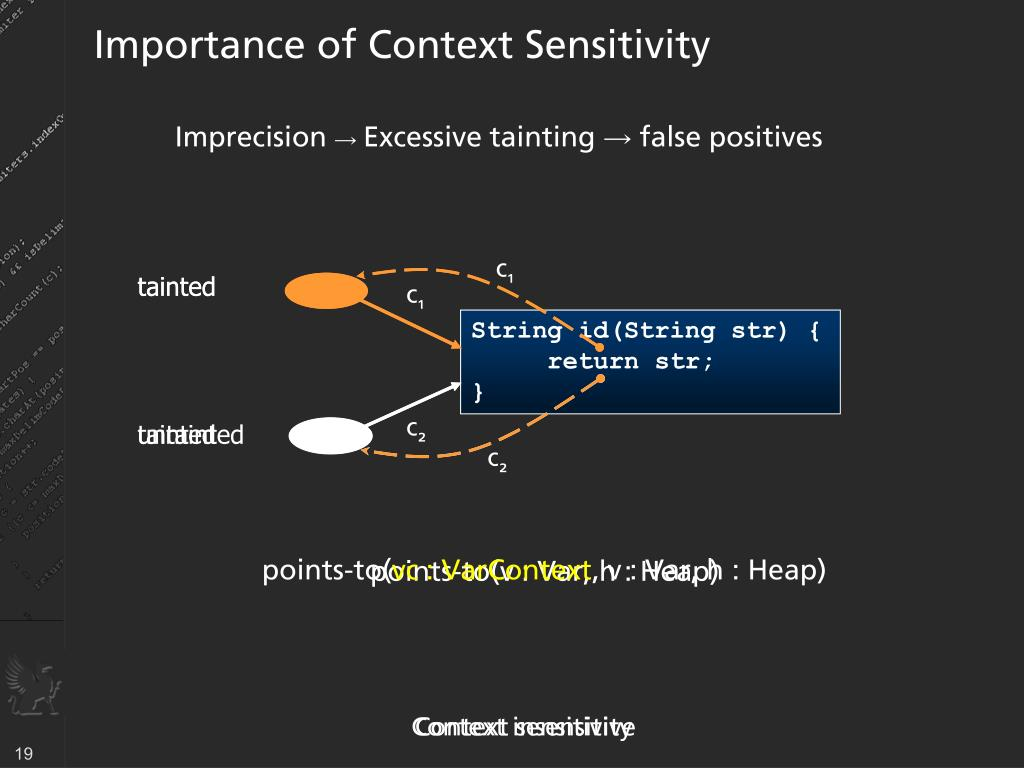 Importance of Context Sensitivity