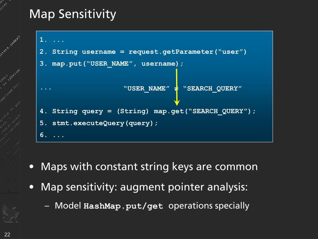Map Sensitivity