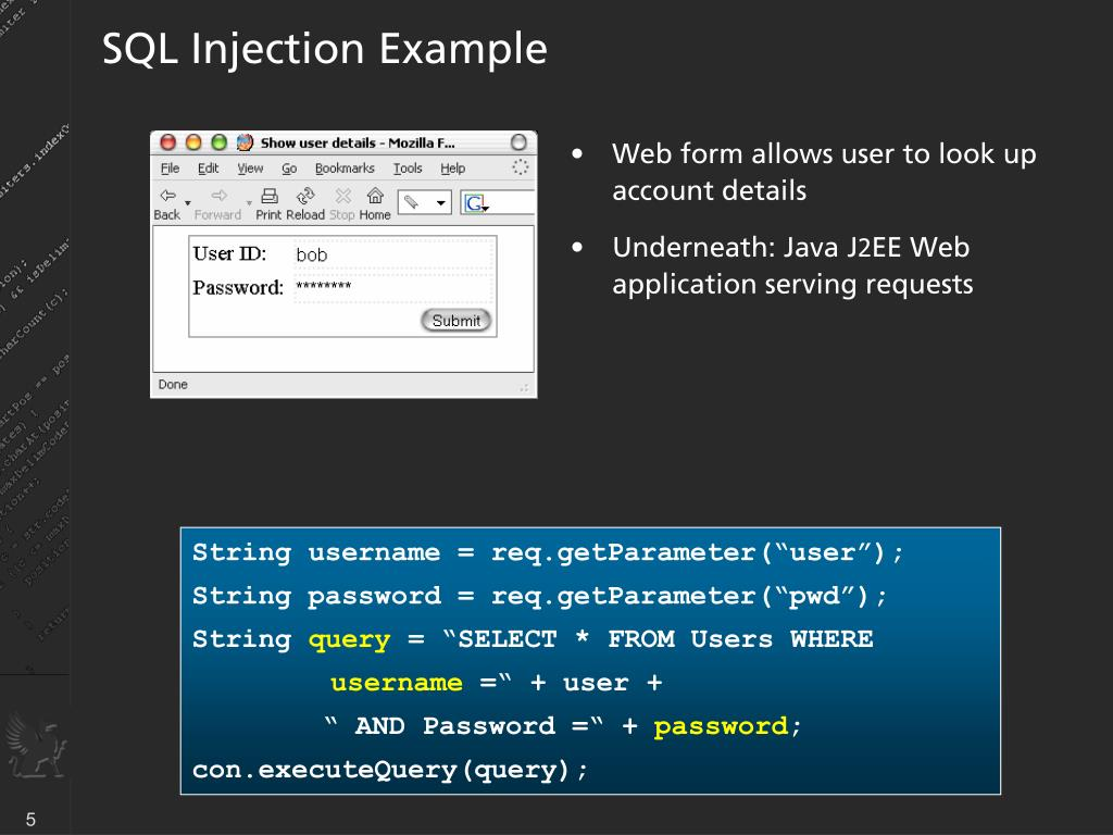 SQL Injection Example