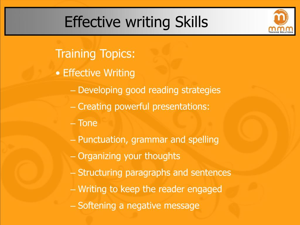 effective writing skills l.