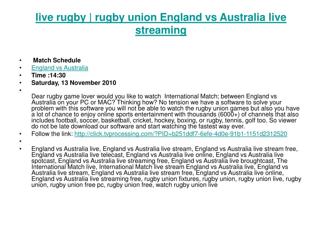 live rugby rugby union england vs australia live streaming l.