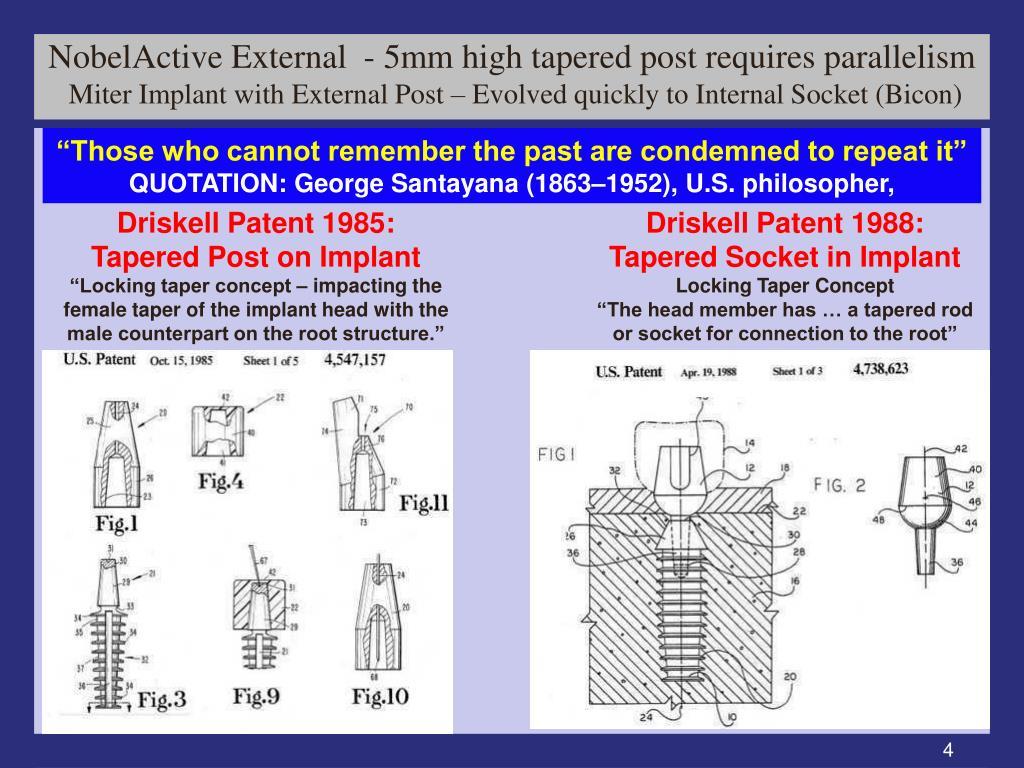 NobelActive External  - 5mm high tapered post requires parallelism