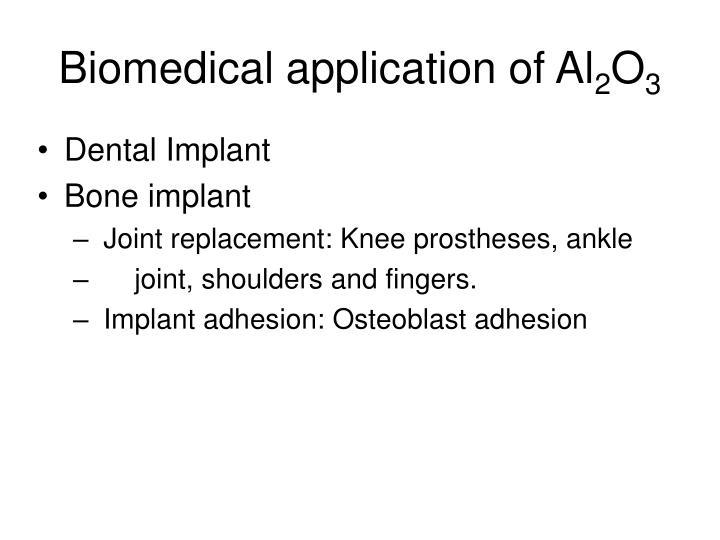 Biomedical application of al 2 o 3