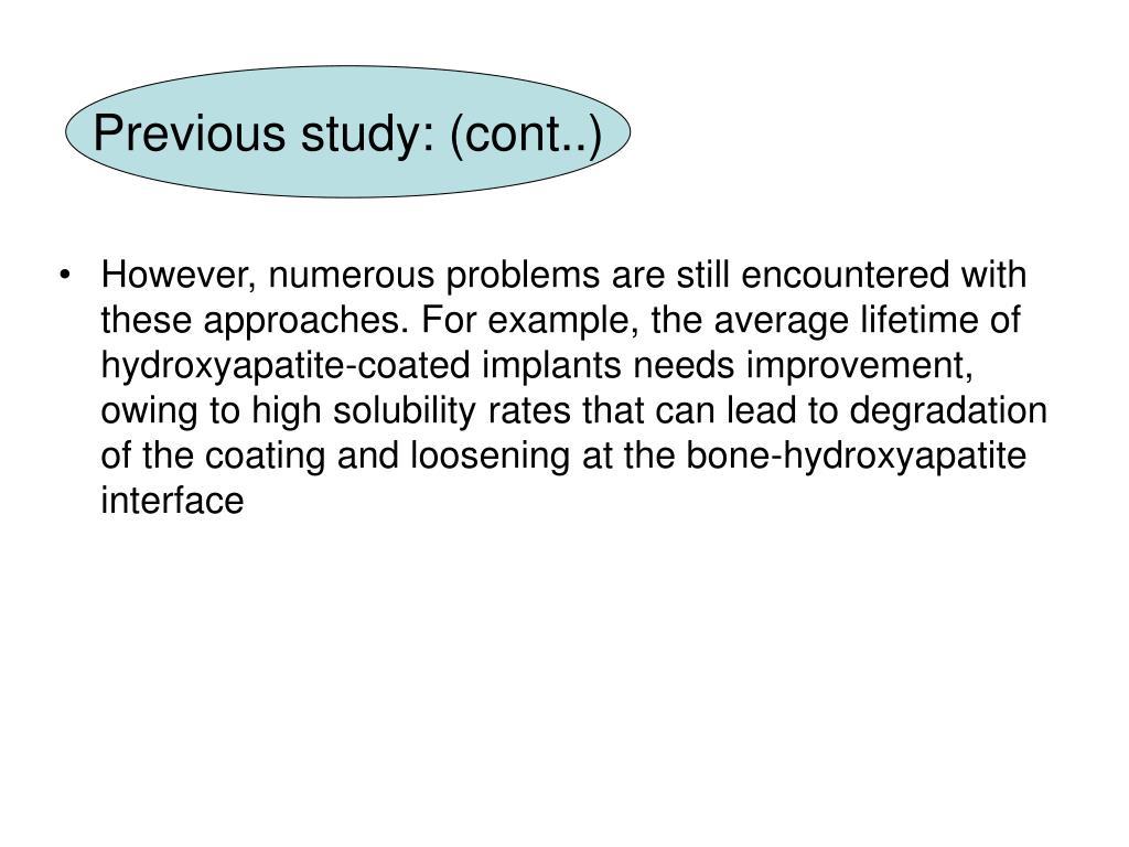 Previous study: (cont..)