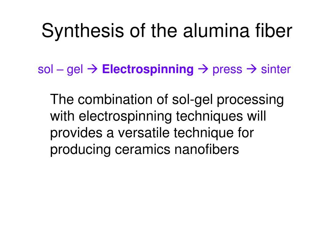 Synthesis of the alumina fiber