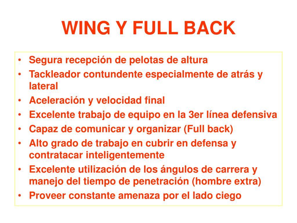 WING Y FULL BACK