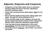 adjuncts disjuncts and conjuncts16