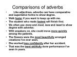 comparisons of adverbs