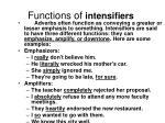 functions of intensifiers