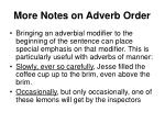 more notes on adverb order14