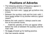 positions of adverbs11