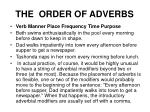 the order of adverbs