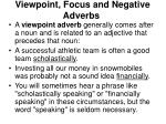 viewpoint focus and negative adverbs